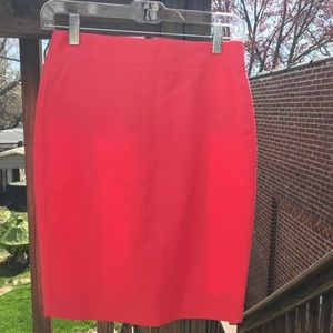 J. Crew bright pink pencil skirt Sz 00